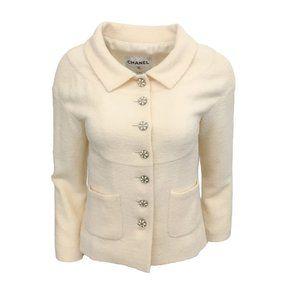 Chanel Ivory Boucle Jacket